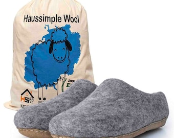 Organic Wool Slippers | Felted Wool Slippers | Wool Slippers Women | Soft Ladies Slippers | Cozy Slippers | Wool Felt Slippers | Women Gifts