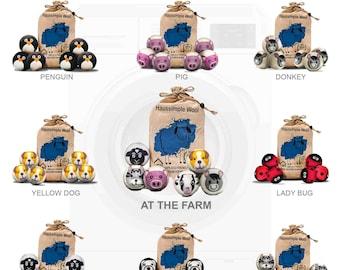 Wool Dryer Balls (Pack of 6) | Organic Wool Dryer Balls | Reusable Dryer Balls | Sheep Wool Dryer Balls | Natural Fabric Softener Balls