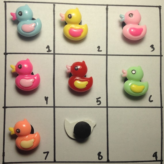 Handmade Duckling Shoe Charms for rubber clogs duck shoe charm teenager animals teen charms rainbow Pick Charms kids duckling