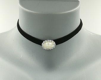Silver Infinity Velvet Day Collar Black and Silver Infinity Velvet Choker Necklace Handmade 13-15 Black Velvet Silver Infinity Choker