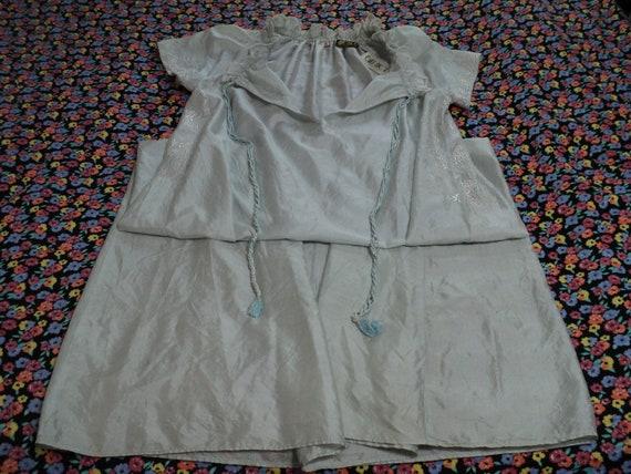 BILL TICE- vintage pale blue silk nightgown - full