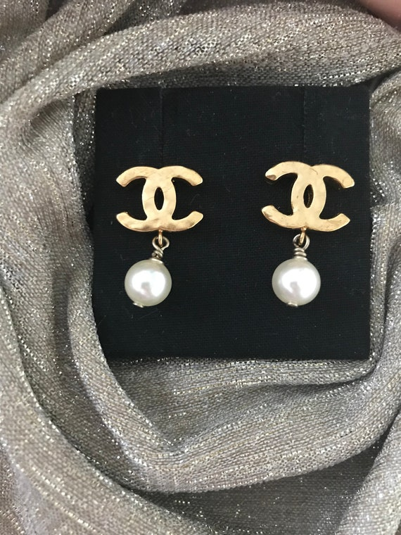 Original Chanel Cc Earrings by Etsy