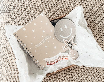 GIFT SET / you are capable / anxiety journal / self care workbook / notebook for anxiety / mental health