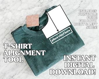 Pocket Alignment Guide Bundle Pack | Digital Download | T-Shirt Placement | Vinyl Placement | Silhouette | Cricut | SVG | Shirt Alignment