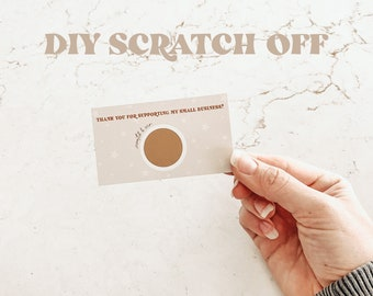 scratch off card template | digital download | business card | small business | coupons