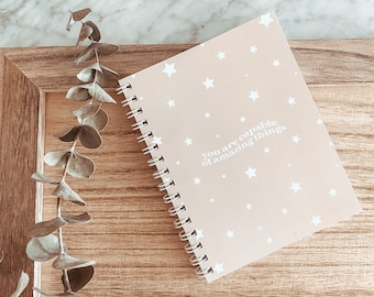 you are capable | anxiety journal | self care workbook | notebook for anxiety | mental health