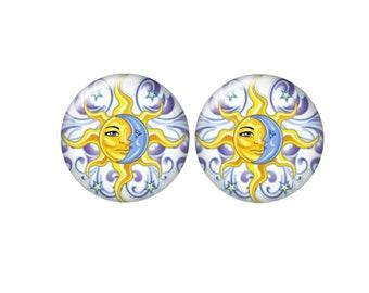 12mm Pair Yin Yang Round Cabochon DIY Jewelry
