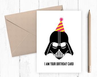 Darth Vader Birthday Card, Funny Birthday Card, Printable Birthday Card, Birthday Card for Him, INSTANT DOWNLOAD