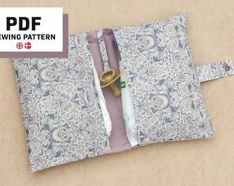 Diaper Wallet PDF Sewing Pattern, Nappy Wallet, Diaper Clutch, Diaper Caddy, Sewing for baby, Diaper Bag, Nappy Bag, Digital Download