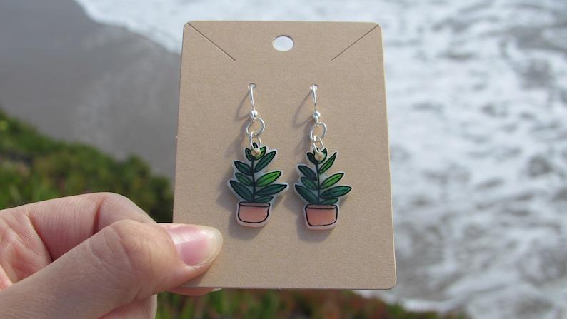 Plant Shrinky Dink Earrings