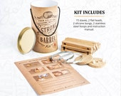 Whiskey barrel making kit, oak wood, bourbon barrel unique gift box for dad and father