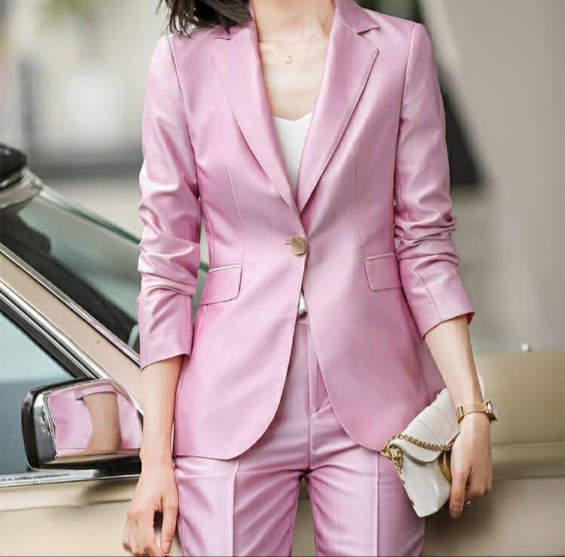 women/'s coats wedding suits pink 2-piece pants and blazer suits formal suits Women/'s 2-piece suits