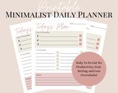 Printable Daily To Do List   Minimalist Daily Planner
