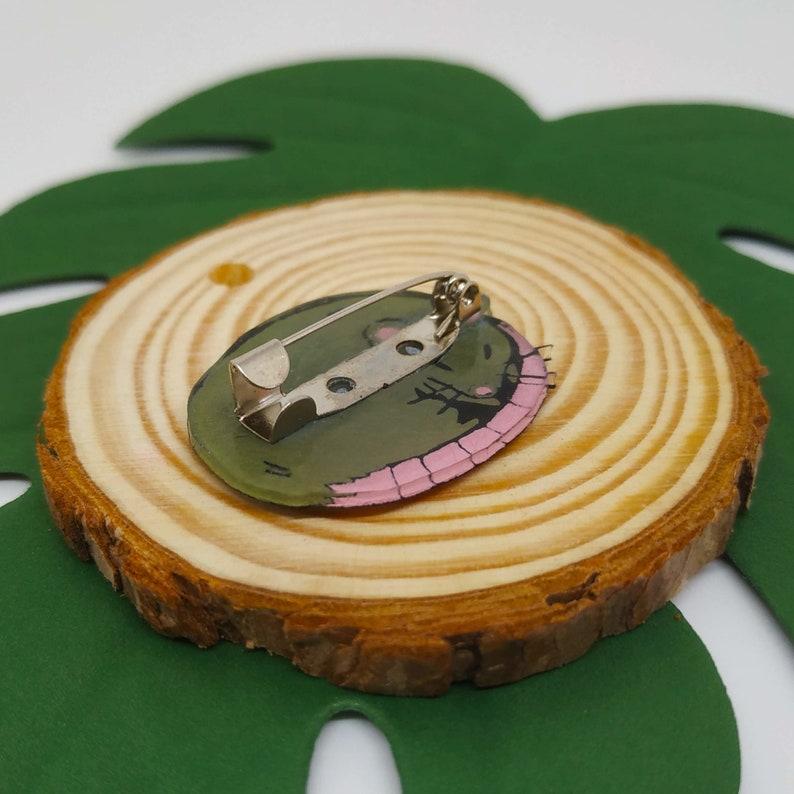 Sleeping Rat Pin Cute Novelty Alternative Accessories