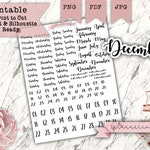 114 Planner Date & Day of the Week Stickers - Perfect for Re-Dating Changing Outdated Planners! Dates and Days of the Week Foil Ready