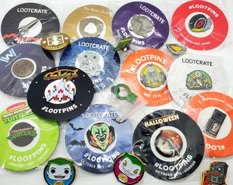 Collectible Cosplay Patches Pins Stickers Funko Lootcrate
