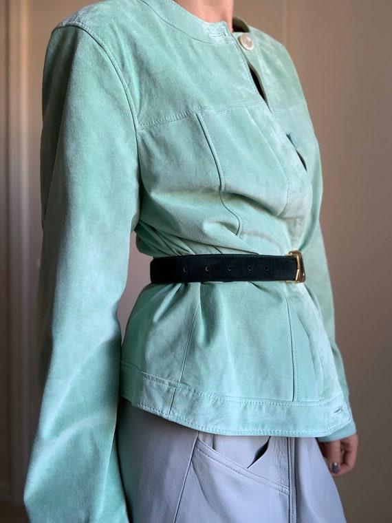 Vintage Suede Gorgeous Green Jacket