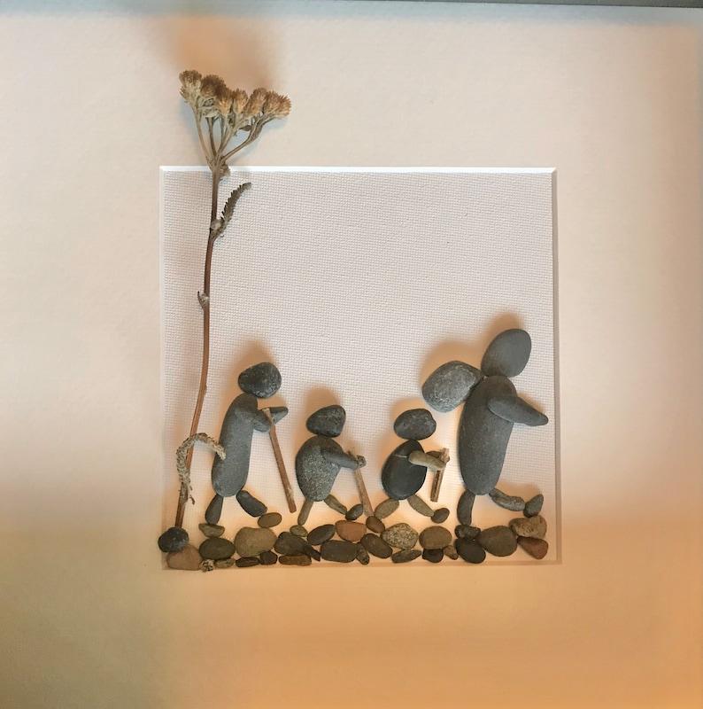 Pebble Art Family Hikers