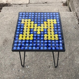 Dice Resin End Table