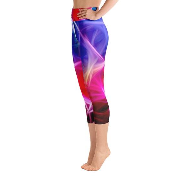 Workout Pants Texas Flag Custom Stretchy Capri Athletic Gym Fitness Yoga Leggings Pants