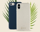 Eco Friendly 100 Biodegradable Compostable Bamboo Straw iPhone Case Cover for 7, 7 Plus, 8, 8 Plus, X, XS, XR, 11, 11 Pro