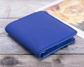 Minimalist Leather Wallet, Leather Bifold Wallet, Distressed Leather Slim Bifold Wallet, Groomsmen Wallet