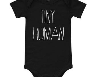 Tiny Human T-Shirt Onesie   Halloween T-Shirt Onesie   T-Shirt Onesie   The Creeperie