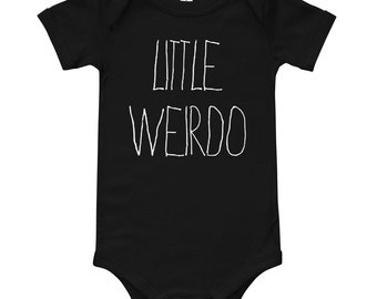 Little Weirdo T-Shirt Onesie   Halloween T-Shirt Onesie   T-Shirt Onesie   The Creeperie