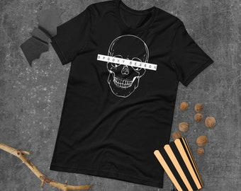 Spooky Season Shirt   Halloween T-Shirt   Halloween Tee   Skull Short-Sleeve Unisex T-Shirt   The Creeperie