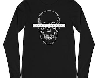 Spooky Season Shirt   Halloween T-Shirt   Halloween Tee   Long-Sleeve Unisex T-Shirt   The Creeperie