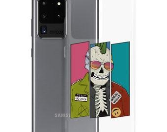 Punk Skeleton Clear Samsung Case   Skeleton Phone Case   Halloween Phone Case   SamsungCase   The Creeperie