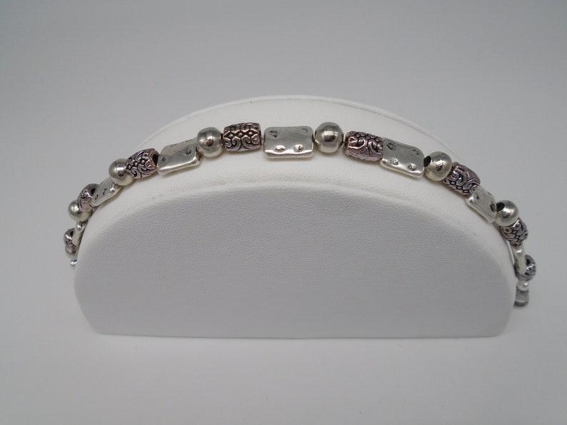 Womens Handmade Jewelry Tibetan silver 7 inch bracelet with Amethyst and rose quartz earrings set fashion jewelry art deco jewelry