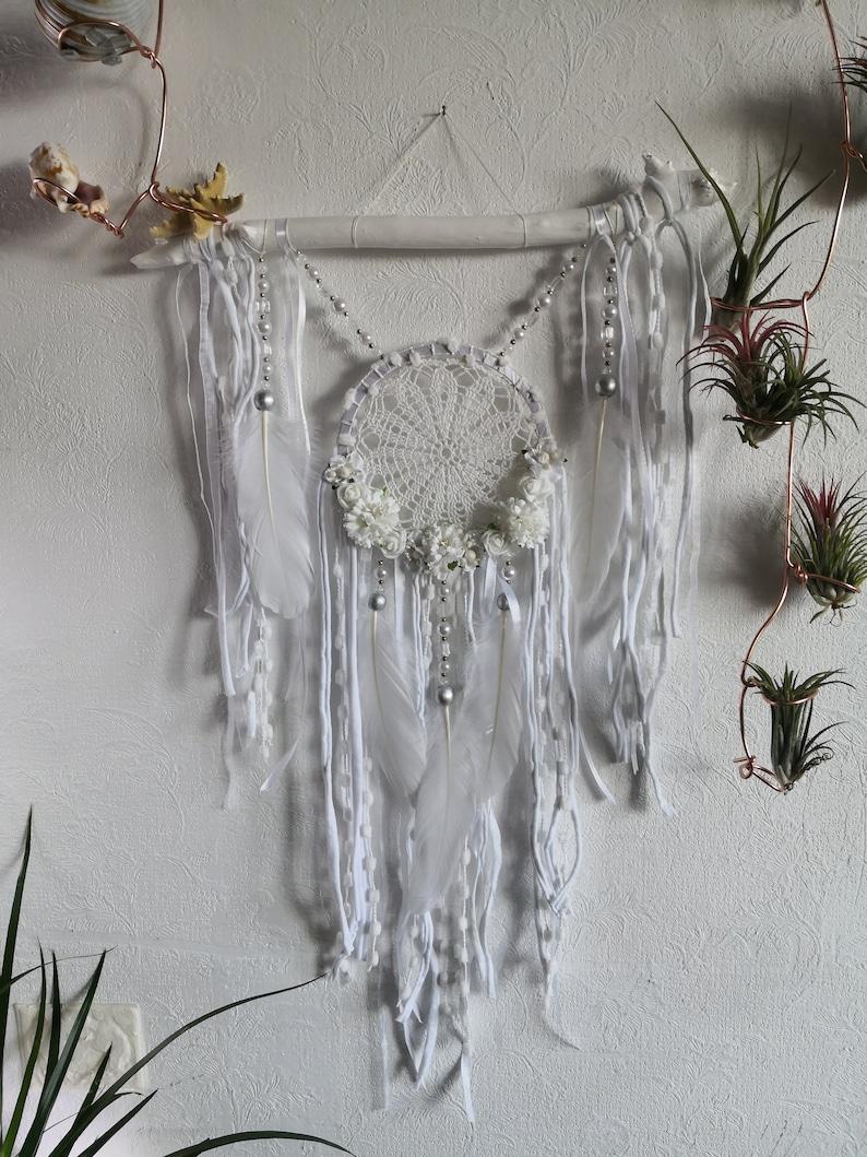 Dreamcatcher wedding Traumfanger Dreamcatcher white Dreamcatcher Crochet Dream catchers wall hanging Boho Baby Bohemian room decor