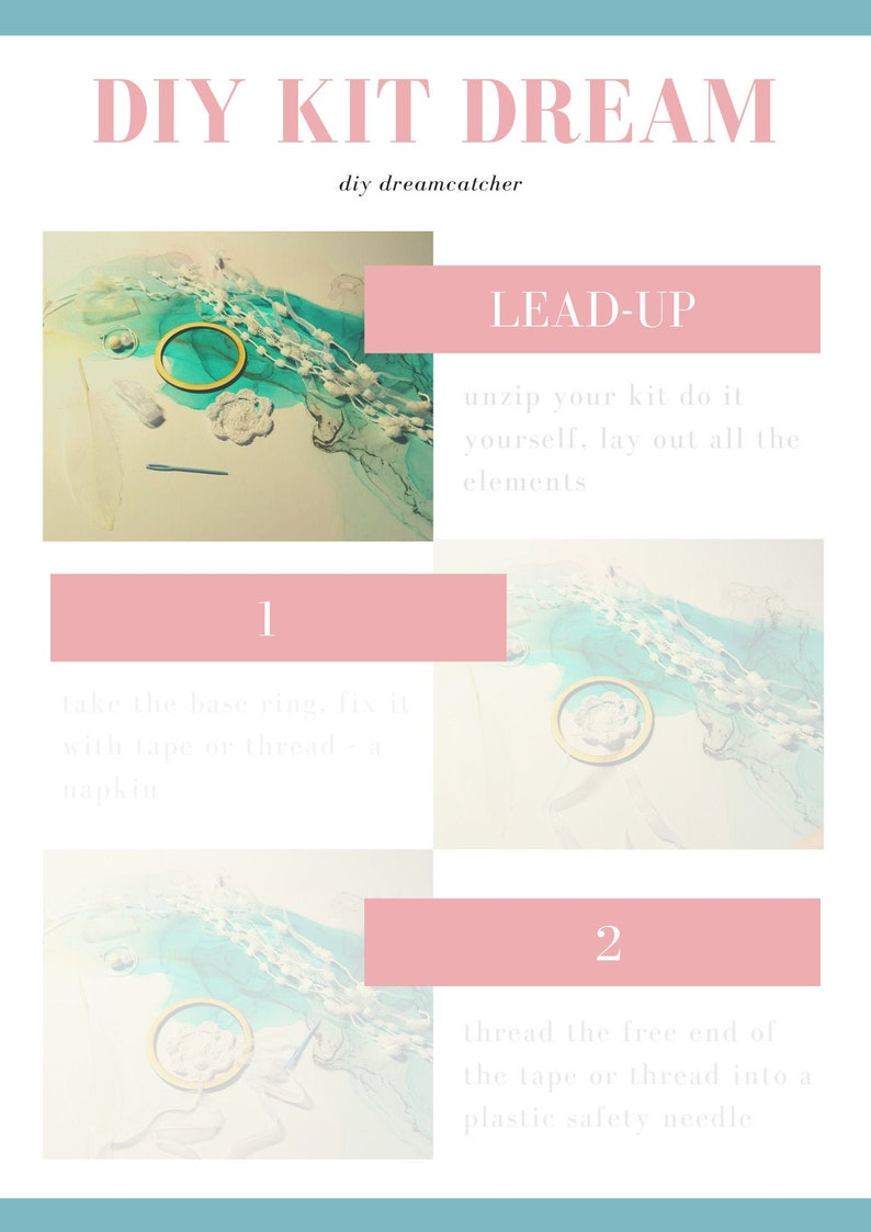 PDF diy Art kit DIY Dreamcatcher DIY Nursery Decor Wife image 0