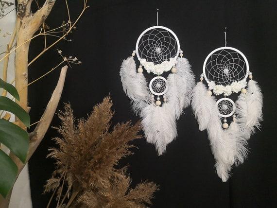 Wedding dreamcatcher, white Dreamcatcher, blanco Dream catchers wall hanging, Bohemian room decor, Traumfanger, Boho Baby, Dreamcatcher gift