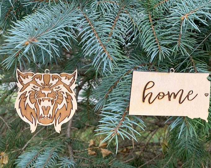Custom Christmas Ornaments - Laser Engraved