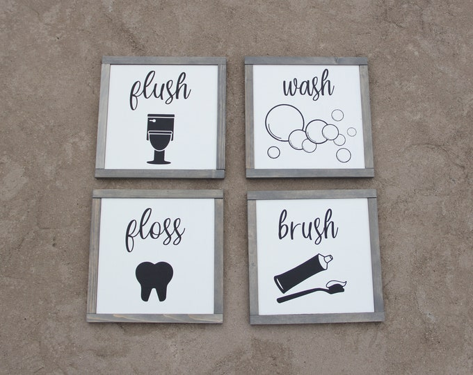 Bathroom Signs - Fun - Decor - Hand Crafted