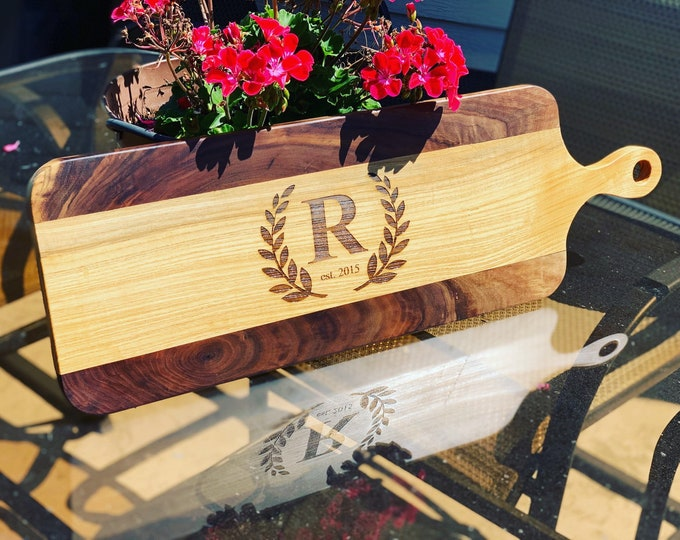 Custom Hand Crafted Cutting Board - Charcuterie Board - Wedding Gift - Anniversary Gift