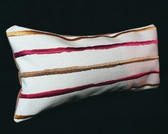 12 x 5.5 x 3 Filled Handmade Small Decorative LumbarNeck Pillow
