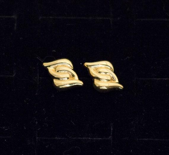 Gold Stud Earrings, Vintage Earrings, Gold Studs,… - image 1