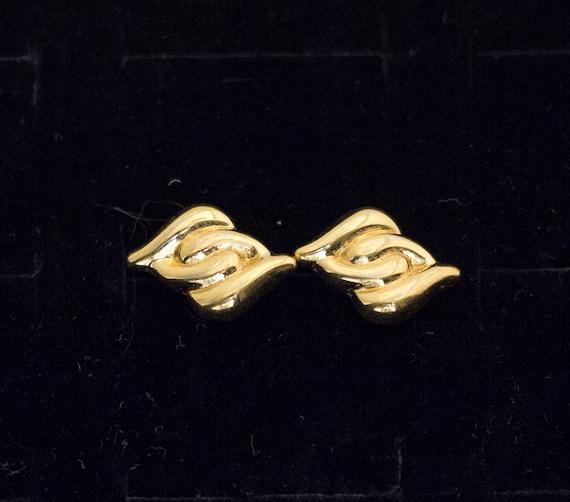 Gold Stud Earrings, Vintage Earrings, Gold Studs,… - image 4