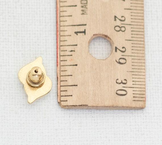 Gold Stud Earrings, Vintage Earrings, Gold Studs,… - image 3