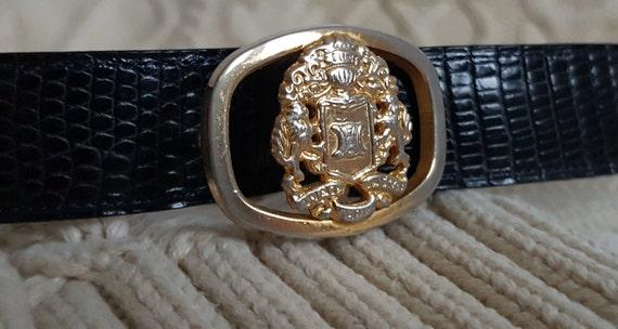 Vintage 70s 80s CELINE belt women's leather
