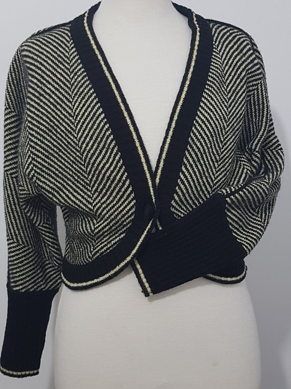 Vintage 80s 90s ESCADA MONDI sweater coat wool a l