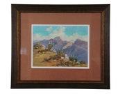 A D Macintyre (1890-1953) Antique Painting Southwestern Desert Landscape Scene