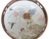 19th Century Japanese Meiji Imari Painted Porcelain Serving Bowl Centerpiece 10 quot