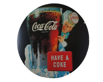 vintage coca cola paper store sign rockwell