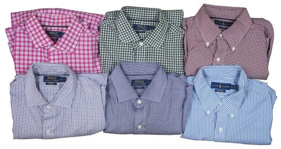 Lot of 6 Polo Ralph Lauren Mens Dress Shirts