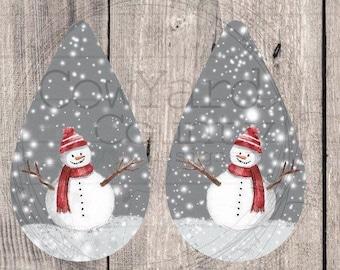 Snowman Earring Designs, Earring Sublimation Images, Earring Templates, Christmas Sublimation, Christmas  Downloads, Drop Earrings, Gray
