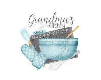 Grandma's Kitchen Design, Home Sublimation Designs, Sublimation Designs, Kitchen Sublimation, Personalized PNG, Kitchen Towel Designs, Apron